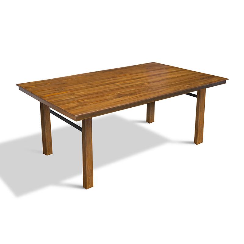Solid Teak Dining Table Wood Legs